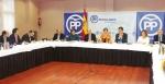 Guarinos junto a la dirección del PP y los parlamentarios  nacionales por Guadalajara han hecho balance de la legislatura